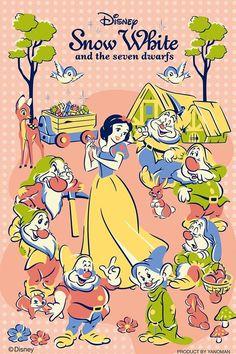 ディズニー 柔らかくて可愛らしい 白雪姫のイラスト