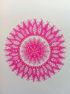 Pink zentangle inspired flower