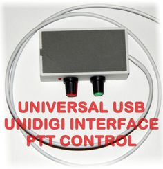 Universal USB Digi Interface with PTT - PSK,PSK31,RTTY,SSTV Compatible with ALL radios. Cable include 2 (or 3 if you ask it) pairs. Make a note when you order, else will be shipped by default 2 pairs cable.