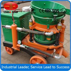 chinacoal03 PZ-3  Dry Mix Shotcrete Machine   Dry Mix Shotcrete Machine     ,    conrete shotcrete machine   ,    Concrete  GuniteMachine   Product Introduction PZ-3 Dry  spraying machine, whether it is wild jet slope, or building wall reinforcement, can meets your needs. And as for the machine, its requirements of the medium is not very high. Any materials can be injected unless the diameter is no more than 20mm..
