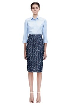 Victoria Beckham | #PreSS15 VVB | Open Back Shirt and Pencil Skirt