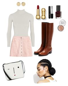 """""""Untitled #558"""" by mikeysfaveslice on Polyvore featuring Body Editions, H&M, Lulu Guinness, Rupert Sanderson, Marc Jacobs, Bobbi Brown Cosmetics, Obsessive Compulsive Cosmetics and Magdalena Frackowiak"""