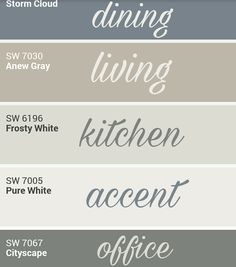 Sherwin Williams whole home palette. by cara – Sherry Pittillo Sherwin Williams whole home palette. by cara Sherwin Williams whole home palette. by cara Farmhouse Paint Colors, Paint Colors For Home, Farmhouse Decor, Country Paint Colors, Office Paint Colors, Modern Farmhouse, Popular Paint Colors, Wall Paint Colors, Country Kitchen Ideas Farmhouse Style