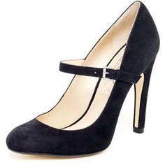 KORS Michael Kors Galli Suede Mary Jane Pump, Black or Crimson