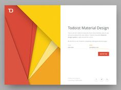 Todoist Material Design designed by Jordi Tambillo for Doist. Connect with them on Dribbble; the global community for designers and creative professionals. Web Design, Page Design, Book Design, Flat Design, Layout Design, Graphic Design, Gui Interface, User Interface Design, Material Design Website