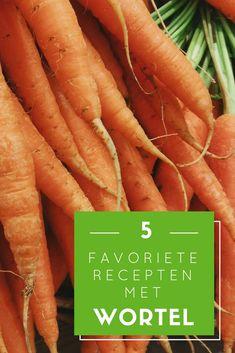 In de reeks 'mijn 5 favoriete recepten' deel ik graag mijn liefde voor koken en mijn favoriete recepten waarin groente de hoofdrol speelt met jullie. Deze editie mijn 5 favoriete recepten met wortel. Carrots, Good Food, Lunch, Healthy Recipes, Snacks, Vegetables, Desserts, Blog, Tailgate Desserts