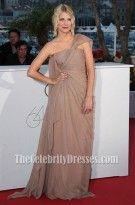 Melanie Laurent Chiffon Prom Dress 64th Cannes Film Festival Red Carpet