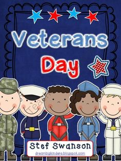 "Veterans Day Activities! - 83 pages with everything you need to introduce Veterans Day to young learners! I have included an original ""Hooray for Veterans Day"" book that will teach your students about the holiday. Students will be engaged in language and math activities while learning about Veterans Day!.  A GIVEAWAY promotion for Veterans Day Activity Packet from Dream Big Kinders on TeachersNotebook.com (ends on 10-31-2013)"