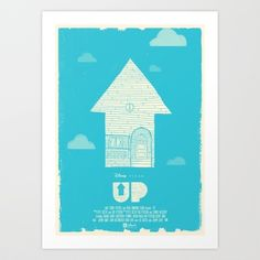 UP - Movie Poster Art Print by Joel Amat Güell