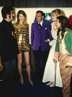 """ferregalma: """"Françoise Hardy, Paco Rabanne and Salvador Dalí in France On May 19, 1968 """""""