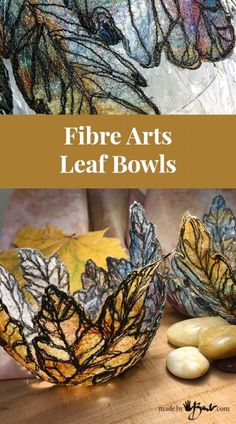 Are you house-bound and twiddling your fingers? I bet you have some fibre stuff somewhere. Here's some easy creative therapy with these Fibre Arts Bowls Thread Painting, Fabric Painting, Free Machine Embroidery, Embroidery Art, Fabric Crafts, Satin Fabric, Cotton Fabric, Felt Tip Markers, Manualidades