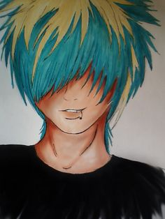1: learn how to draw hair like this. Looks cool