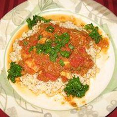 Shrimp Creole IV Allrecipes.com--with smoked gouda grits-- double the tabasco for kick