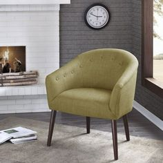 Bailey Barrel Back Accent Chair - Olive
