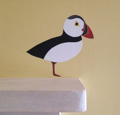 Puffin wall sticker. Puffin decal. Puffin art. by ChameleonWallArt