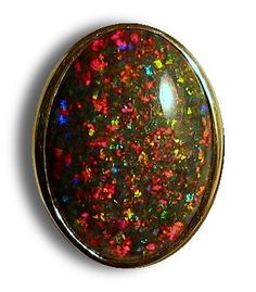 25 carats Andamooka matrix opal  mounted in a gold ring #opalsaustralia