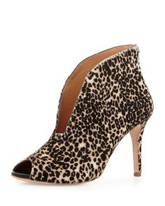 0d263c057df Ronan Leopard-Print Calf Hair Bootie by VC Signature at Neiman Marcus. Boots  For