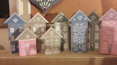 Upcycled children's building blocks. Painted and details added.  Fun to make.