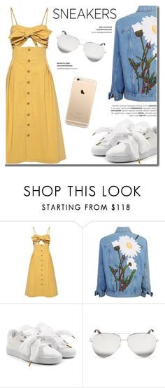 """White Sneakers"" by fashion-bea-16 ❤ liked on Polyvore featuring Sea, New York, Puma and Victoria Beckham"