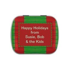 Personalized Jelly Belly Christmas Candy Tins Add your own words #zazzle #candy #gifts
