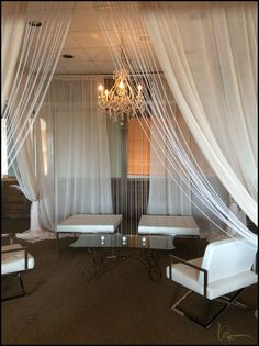 White Furniture and Draping