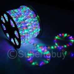 Multi-RGB-LED-Rope-150ft-110V-2-Wire-Flexible-DIY-Lighting-Outdoor-Christmas