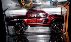 HOT WHEELS 2017 HOT TRUCKS  #4/10 FORD PERFORMANCE '17 FORD F-150 RAPTOR (RED) #HotWheels #Ford