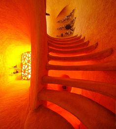 Orange Staircase by Javier Senosiain
