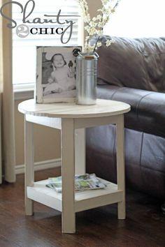 table basse DIY en blanc