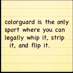 Yes it is. #colorguard