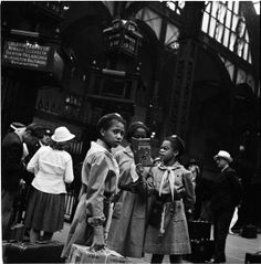 Girl Scouts in Penn Station, NYC. 1940