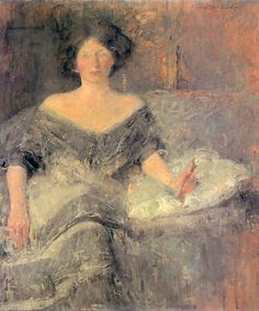 Portrait of Eliza Krausowej - Olga Boznanska.  Eva's blog