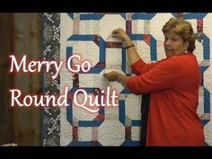 "The Merry Go Round Quilt - YouTube Quilt Finished Size 60 1/2"" x 77 1/2"" Finished Blocks: 12 (12 1/2"") blocks"