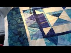 Machine quilting a scroll design - Christine Baker - Fairfield Road Designs