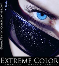 Extreme Color contact lenses available in 8 raunchy colours to suit your mood, non prescription with no added vision powers Suitable for all eyes and all eye colours amazing on both bright and dark eyes.