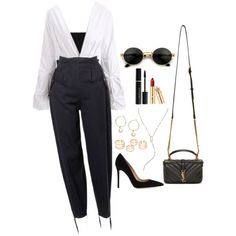 >>>Cheap Sale OFF! >>>Visit>> A fashion look from February 2018 by featuring Balmain Gianvito Rossi Yves Saint Laurent Lana HM and Elizabeth Arden Cute Casual Outfits, Stylish Outfits, Work Fashion, Fashion Looks, Kpop Fashion Outfits, Womens Fashion, Teenage Outfits, Comfortable Fashion, Polyvore Outfits
