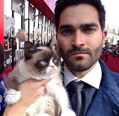 Tyler and Grumpy Cat