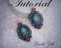 Check out Dune Beading tutorial.Beaded pattern earrings. ! PDF file containing instructions . on emeliebeads