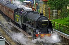 North Yorkshire Moors Railway - been on that! Downton Abbey Fashion, Abandoned Train, Steam Railway, Southern Railways, Train Art, British Rail, World View, Steam Locomotive, Train Tracks