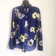 Details about the limited geo print shirt dress popover style w j crew womens perfect shirt classic silk button down floral printed size medium ebay gumiabroncs Choice Image