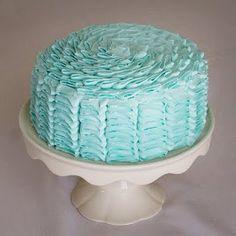 pretty ruffle cake