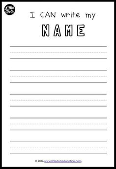 Free printable to practice writing your names for preschool, pre-k or kindergarten class. p Free printable to practice writing your names for preschool pre-k or kindergarten class p Preschool Names, Preschool Learning Activities, Free Preschool, Kindergarten Writing, Pre School Activities, Preschool Education, Homeschool Kindergarten, Teaching Writing, Pre K Worksheets