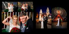 Luna Park and our wedding couple having photos at night Night Wedding Photos, Night Photos, Wedding Photoshoot, Wedding Shoot, Wedding Couples, Wedding Reception Venues, Wedding Ceremony, Our Wedding, Bridal Car