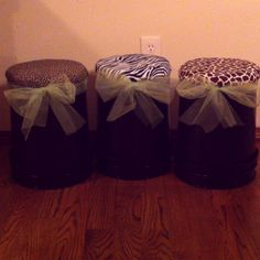 5 gallon buckets for small group seating.