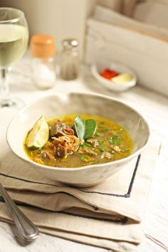 Aromatic Indonesian beef soup / Soto Daging
