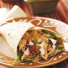 Buffalo Chicken Wraps: This fuss-free meal is a favorite, with its tender chicken, tortillas, crunchy vegetables and spicy sauce.