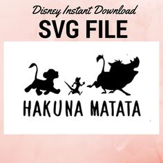 Disney SVG Lions King SVG Hakuna Matata SVG cut file Cricut cut file for cute matching shirts, Disneyland funny mugs, Svg handmade lion king by TiredGirlCompany on Etsy https://www.etsy.com/listing/511911707/disney-svg-lions-king-svg-hakuna-matata