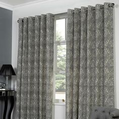 Curtains Got Natural Serenity Lined Eyelet Dunelm
