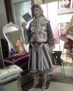 Libyan eastern custome with silver jewlery ..