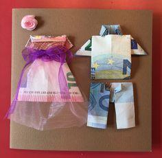 Leuk om aan bruidspaar cadeau te doen. Vouwinstructie zoeken op YouTube 'hemd vouwen van geld'. Wedding Gift Inspiration, Folding Money, Inspirational Gifts, Wedding Gifts, Wedding Stuff, Crafts For Kids, Presents, Shapes, Homemade